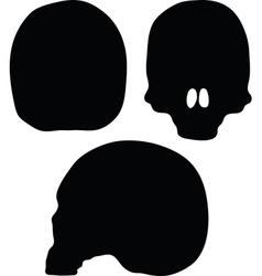 Skeleton head silhouette vector