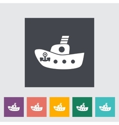 Ship toy flat icon vector