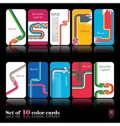 Set of ten abstract card vector