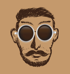 art coffee hipter business question drawn icon vector image