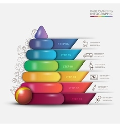 Children pyramid for infographic vector