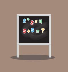 classroom chalkboard elementary study childhood vector image