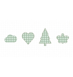 Cloud heart spruce butterfly cute baby style vector