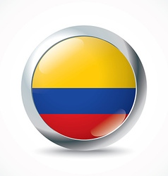 Colombia flag button vector image