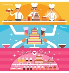 Confectionery Banners Set vector image