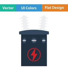 Electric transformer icon vector