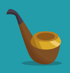 Elf pipe isolated icon vector