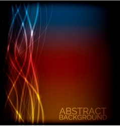 EPS10 abstract lines design on background vector image vector image