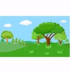 Fabulous spring landscape vector