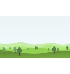 Flat design nature landscape with hill vector