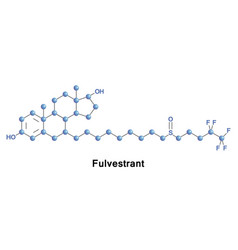 fulvestrant medication breast cancer vector image