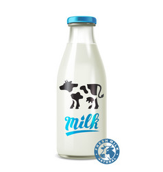 Glass of milk vector