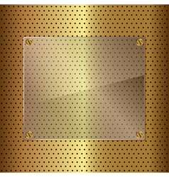 gold and glass vector image vector image