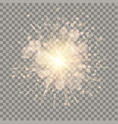 golden and pink sparkling explosion vector image