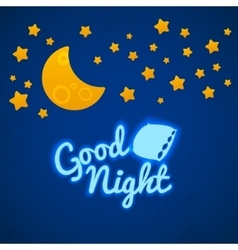 Good night bed time vector