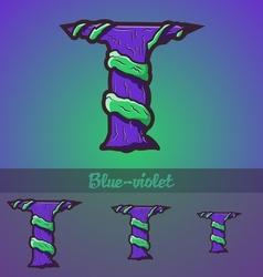 Halloween decorative alphabet - t letter vector