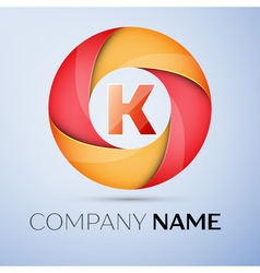 K letter colorful logo in the circle template for vector