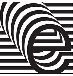letter e design template vector image vector image