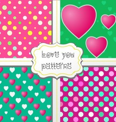 Love you patterns vector image