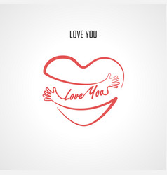 love you typographical design elements vector image vector image