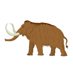 Mammoth large extinct elephant of pleistocene vector