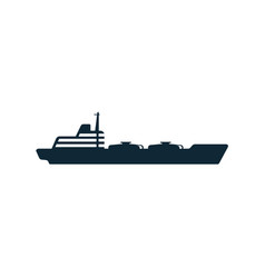 oil fuel tanker ship flat icon pictogram vector image vector image