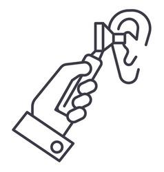 otoscope earentotolaryngologistdoctor vector image
