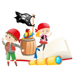 Pirates and adventure book vector