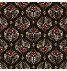 Seamless beautiful antique bronze pattern vector image