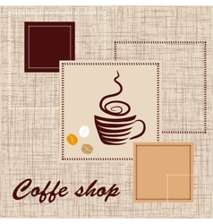 Template of coffee shop vector image