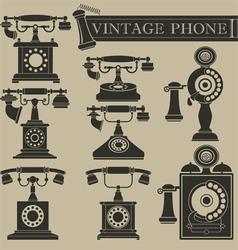 Vintage phone ii vector
