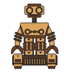 wooden-robot vector image vector image