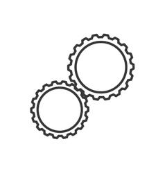 Gear machine part cog industry icon vector image