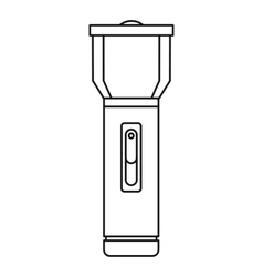 Flashlight icon outline style vector