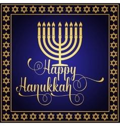 Happy Hanukkah greeting card Typography design vector image