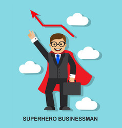 Successful businessman superhero vector
