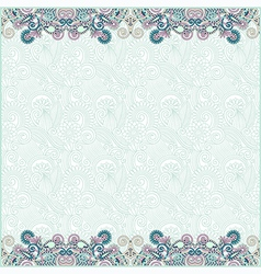 Ornate floral background with two ornament stripe vector