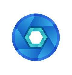 abstract logo design element shutter symbol for vector image