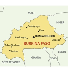 Burkina faso - map vector