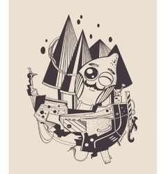 cartoon sailor-lemon vector image