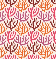 Abstract coral underwater summer seamless pattern vector