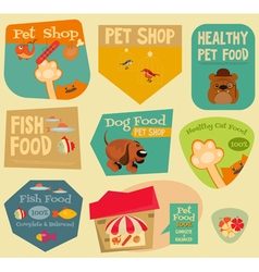 Pet shop stickers vector