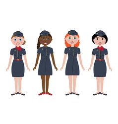 Stewardesses vector