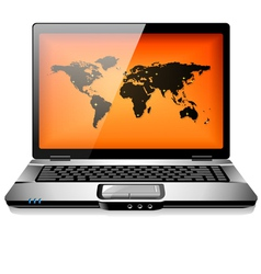 Portable laptop notebook computer vector