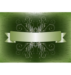 Ribbon with flower vector