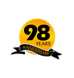 98 years ribbon anniversary vector image