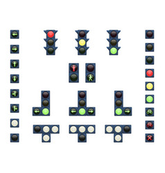 a set of traffic lights vector image vector image