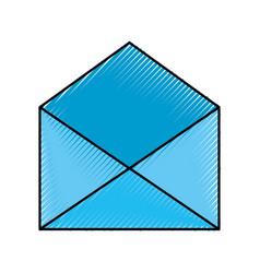 blue open envelope message mail concept vector image