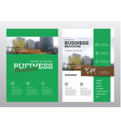 Brochure cover design vector