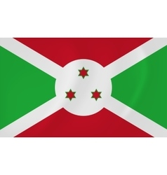 Burundi waving flag vector